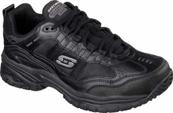 Skechers SK77042BK Soft Stride-Mavin, Men's, Black, Soft Toe, EH, Athletic Work Oxford