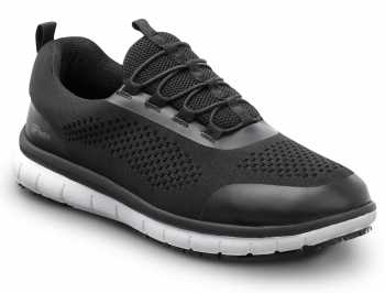 SR Max SRM157 Anniston, Women's, Black/White, Slip On Athletic Style Slip Resistant, EH, Soft Toe Work Shoe