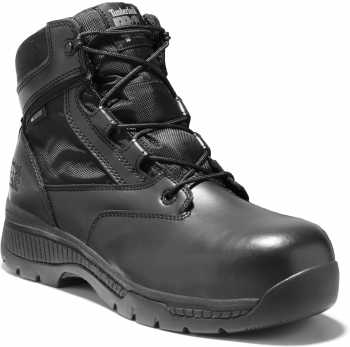 Timberland PRO TM1161A Valor, Men's, Black, Comp Toe, EH, WP, 6 Inch, Uniform Boot