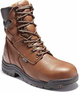 Timberland PRO TM47019 Brown, Men's, TiTAN Alloy Toe, EH, Waterpoof, 8 Inch Work Boot