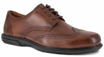 Florsheim WGFS2023 Loedin, Men's, Brown, Steel Toe, SD, Wing Tip Oxford