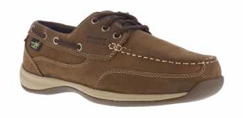 Rockport WGRK634 Sailing Club, Women's, Brown, Steel Toe, EH, Mt, Boat Shoe