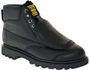 Work Zone WZM612 Men's, Black, Steel Toe, External Met Boot